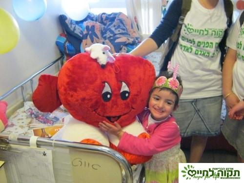 A 4th birthday party for Tehila in hospital